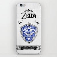 the legend of zelda iPhone & iPod Skins featuring Zelda legend - Hylian shield by Art & Be