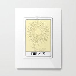 the sun tarot card Metal Print