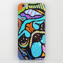 Pooped Pug Dog Puppy Designer Series Bright Colorful Fun Art Design Bulldog Breeds iPhone Skin