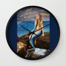 Mermaid's Secret Rockpool Wall Clock