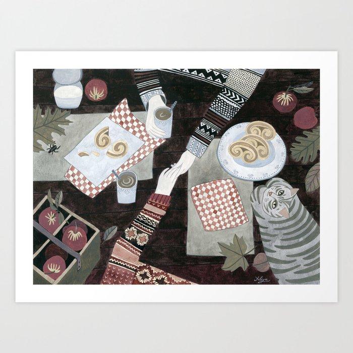Fall Date Art Print