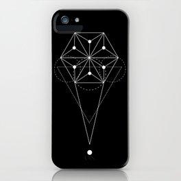 Sacred Hexagon Geometry Black iPhone Case