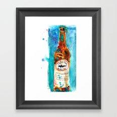 Dogfish Punkin Beer Framed Art Print