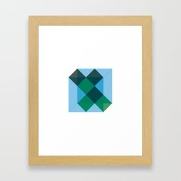 #406 Different states of cube – Geometry Daily Framed Art Print