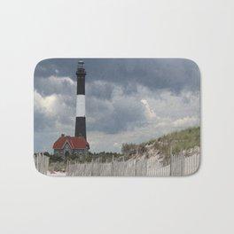Fire Island Light From The Beach Bath Mat