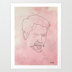 One line Tony Stark Art Print