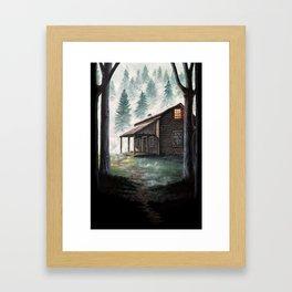 Cabin in the Pines Framed Art Print
