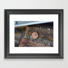 Find a penny heads up all day you'll have good luck! Framed Art Print