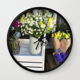 At the florists Wall Clock
