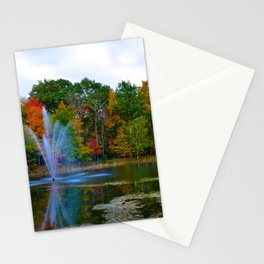 Hunt Pond in Fall Stationery Cards