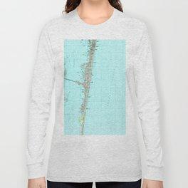 Seaside Park & NJ Shore Map (1989) Long Sleeve T-shirt