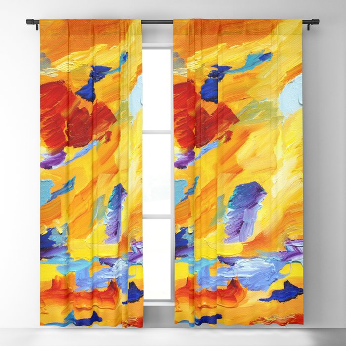 Abstract910 Blackout Curtain