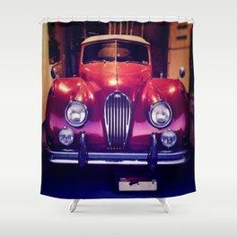 1956 Jaguar Shower Curtain