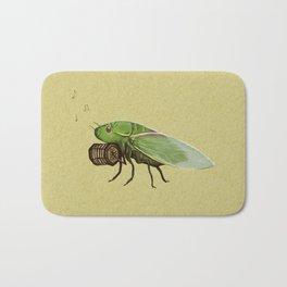 Cicada Playing a Sqeezebox Bath Mat