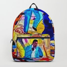 African-American 'The Spirit of Harlem' Historical Mural Portrait Backpack