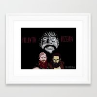 wwe Framed Art Prints featuring WWE - The Wyatt Family by Chaotic Color