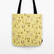 Letter Patterns, Part U Tote Bag