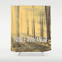 movie poster Shower Curtains featuring Prince Avalanche - Movie Poster by ahutchabove