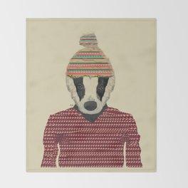seb the badger  Throw Blanket