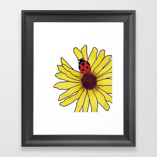 Little Lady Bug Framed Art Print