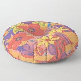 Sunshine and Wildflowers Floor Pillow