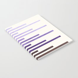 Purple Watercolor Gouache Minimalist Geometric Staggered Stripes Mid Century Art Notebook