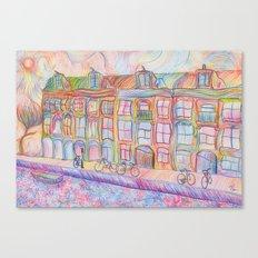 Wandering Amsterdam - Colored Pencil Canvas Print