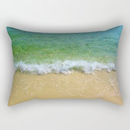 Emerald Shoreline Rectangular Pillow