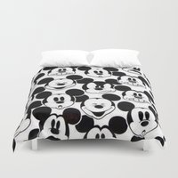 mickey Duvet Covers featuring Mickey Mouse by Pink Berry Patterns