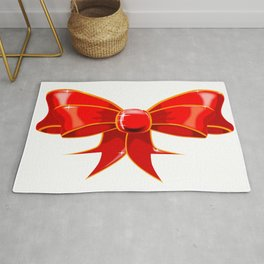 Isolated Red Ribbon Rug