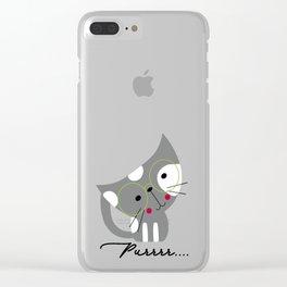Purrr..... Clear iPhone Case