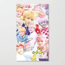 Woozi Collage Canvas Print
