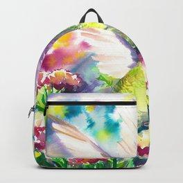 Hummingbird in flowers Backpack