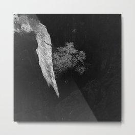Mountain Light. Sierra Nevada. BW Metal Print