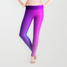 Blue purple to pink ombre vertical flames Leggings
