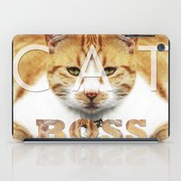 boss iPad Cases featuring Cat boss by MICALI/ M J
