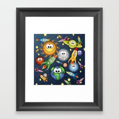 Solar Spaced Out. Framed Art Print