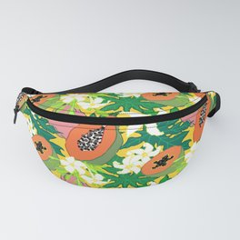 Papaya Botanical in Mango Marigold Fanny Pack