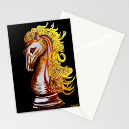 Queen's Gambit Knight Stationery Cards