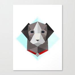 Polygon Dog Canvas Print