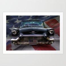 Black American Caddy  Art Print