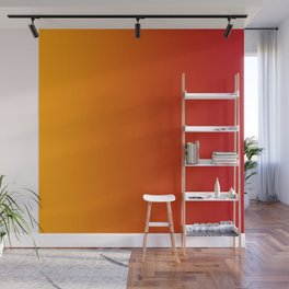 Red Orange Gradient Wall Mural