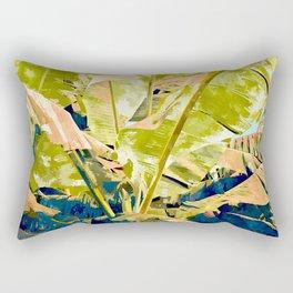 Blush Banana Tree Rectangular Pillow