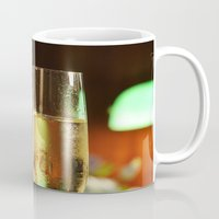 champagne Mugs featuring champagne by laika in cosmos