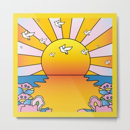 California Sunshine LSD Blotterart Metal Print