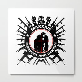 Massive GPX Gorilla Gun Logo Metal Print