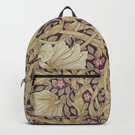 William Morris Pimpernel Orchid & Violets Floral Textile Pattern Backpack
