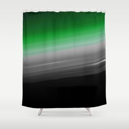 Green Gray Black Ombre Shower Curtain