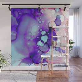Becoming Abstract Painting in Amethyst Rose Wall Mural