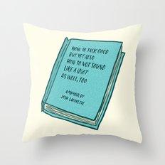 Memoir Throw Pillow